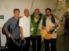 backstage with Hapa (Barry Flanagan, Nathan Aweau, Charles Ka`upu)
